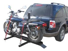 hitch mounted motorcycle carrier